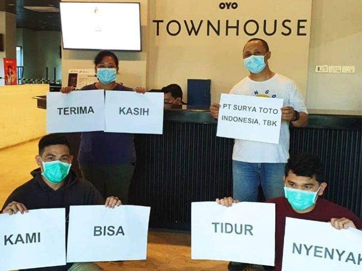 PT. Surya Toto – Providing Temporary Shelter for Hospital Personnel in Jakarta
